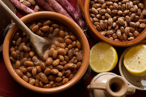 feijão cozido em panela