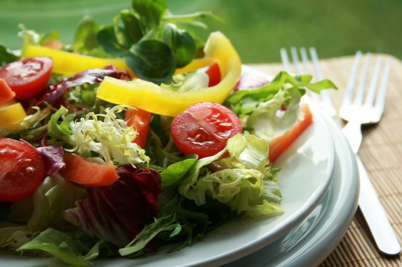 salada de folhas para secar