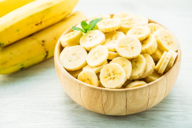 banana em fatias