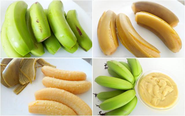 Preparo biomassa de banana verde