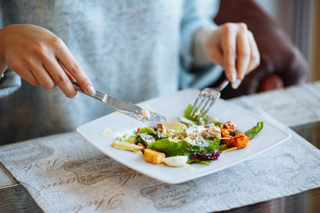 Alimento saudável no prato